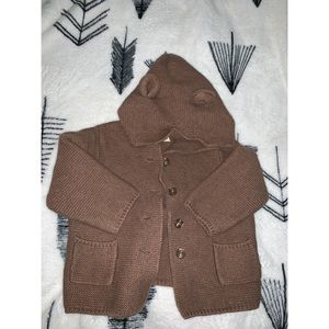 Gap toddler hooded sweater with buttons